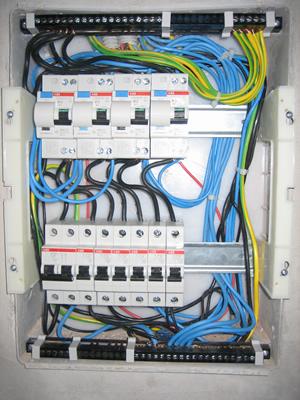 попку электрощит укладка провода в щите душе